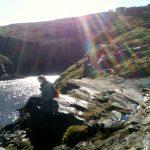 ich an der Küste in Cornwall